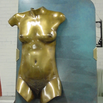 "Bather "" Patina bronze wall mounted version 90cm high x 60cm wide x 14cm deep AUD $10.000"