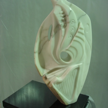 """Reverie"" Statuario marble and granite base 86cm high x 46cm wide x 18cm deep AUD $6.000"