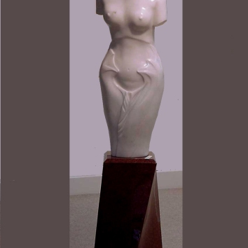 """Rosa Pearl"" Rosa Portugal marble on an imperial red granite base 170cm high AUD $30.000"