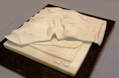 """ The Letter"" Carrara Marble, 4cm x 35cm x 35cm AUD $1.200"