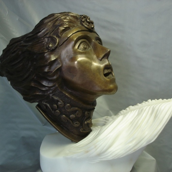 """Ride of he Valkyrie"" Bronze and marble edition 1-7 49cmhigh x 60cm wide x 24cm deep AUD $3.300"